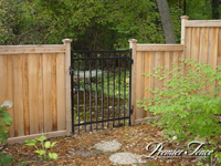 Wood-Privacy-Fence-Glenhill-Aluminum-Gate