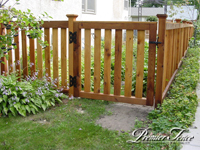 Wood-Privacy-Fence-Princeton-Matching-Gate